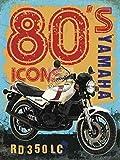 Yamaha RD350 LC 1980's symbole. Motorrad Motorrad für Haus, Garage, pub, Schlafzimmer oder leiste. Metall/Stahl Wandschild - 9 x 6.5 cm (Magnet)