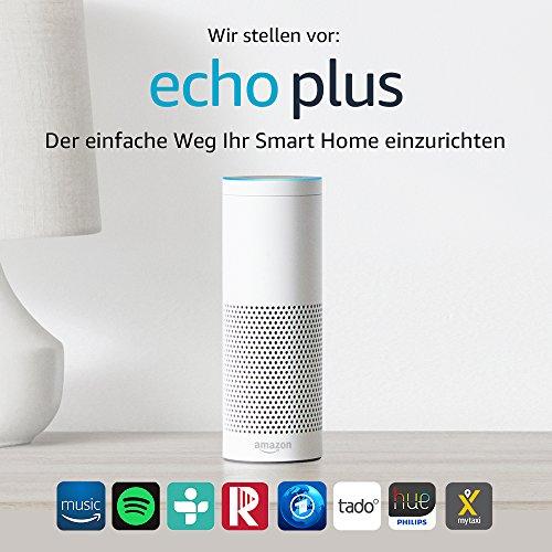 Wir stellen vor: Echo Plus - Mit integriertem Smart Home-Hub (weiß) - 2