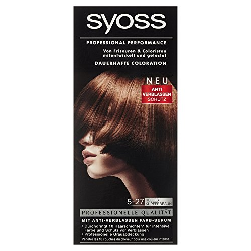 Syoss Professional Performance Coloration Stufe 3, 5-27 Helles Kupferbraun, 115 ml