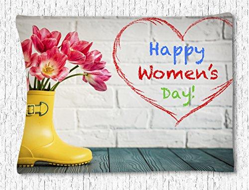 CELYCASY Aufhängen Tapisserie Happy Mother 's Day Blumen in regen Stiefel Wandbehang Tapisserie Home Dekor für Wohnzimmer Schlafzimmer Wohnheim Decor 101,6x 152,4cm