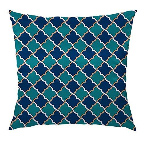 Kissen dekorative Throw Pillow Cover Case Blue Peach Marokkanischer Satin Kissenbezug Kissenbezüge aus Seide Sofa Schlafzimmer Wohnzimmer 18
