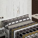 Burrito Blanco - Juego de sábanas Nacarina 006 para cama 90x190/200 cm, color gris