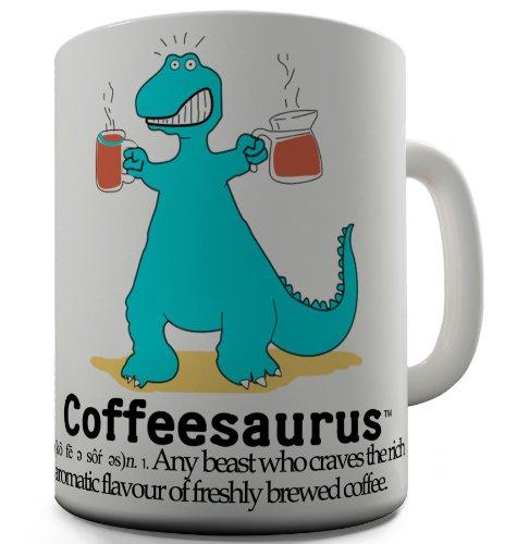 Trenzado Envy dinosaurio Saurus de café de cerámica taza de té