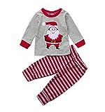 Weihnachts Pyjama SetZEZKT-BabyBaby Kinder Jungen Mädchen Lange Ärmel Oberteile + Hosen...