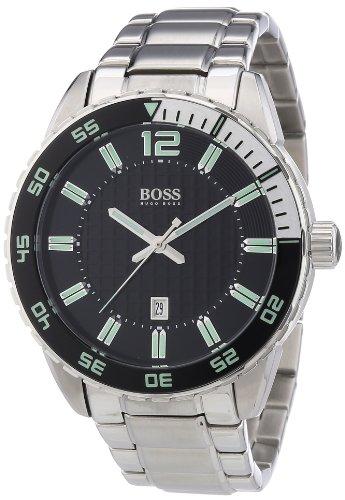 Hugo Boss 1512889 – Reloj analógico de cuarzo para hombre con correa de acero inoxidable, color plateado
