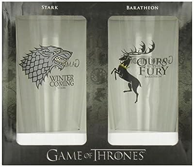 Game of Thrones Pint Glass Set: Stark / Baratheon