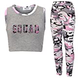 New Girl's Brooklyn 85 New York Squad NYC Crop TOP Leggings 2 Piece Set Age 7-13 Years