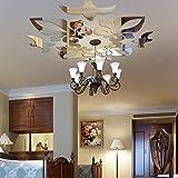 Indexp 3D Removable Mirror Floral Wall Sticker Vinyl Art Home Room Decors Decals(40x60cm) (Silver /30x30cm)