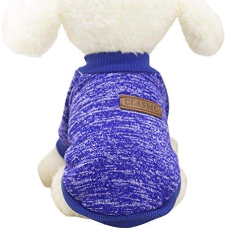 artistic9(TM) Kleiner Hund Pullover Winter Pet Puppy Kleidung Warm aus Wolle Strickwaren Coat Apparel klassisch
