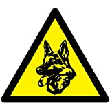 DISPOSITIVO DE SEGURIDAD PERRO TRIÁNGULOCONSTELLATION PEGATINA DE ADVERTENCIA DE ALARMA