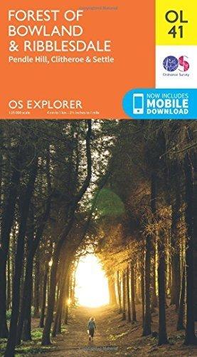OS Explorer OL41 Forest of Bowland & Ribblesdale (OS Explorer Map) by Ordnance Survey (2015-06-10)