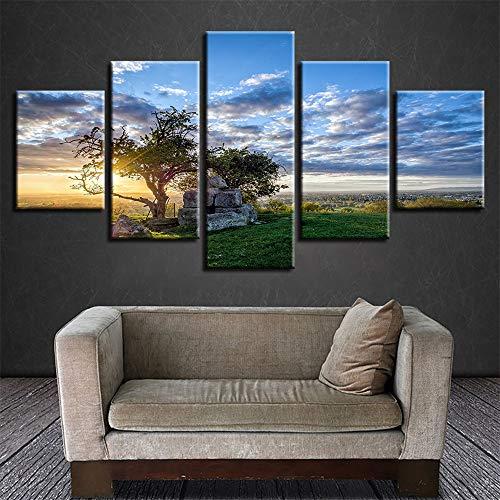 Dekorative Malerei,Wulian hd Baum Landschaft Home gast Mural Mode Druck Handwerk gemälde 17 malerei Kern 20x35cmx2 20x45cmx2 20x55cmx1