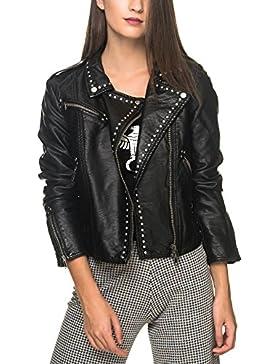 Free People Women's Studded Vegan Moto Black Jacket