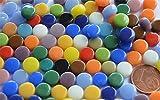 100 St. Mini Mosaiksteine glänzend rund 8mm Buntmix ca. 40g
