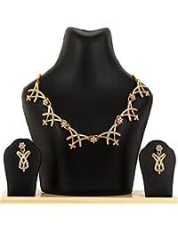 Kpax Fashions Golden Color Alloy Necklace Set For Women,KPX29