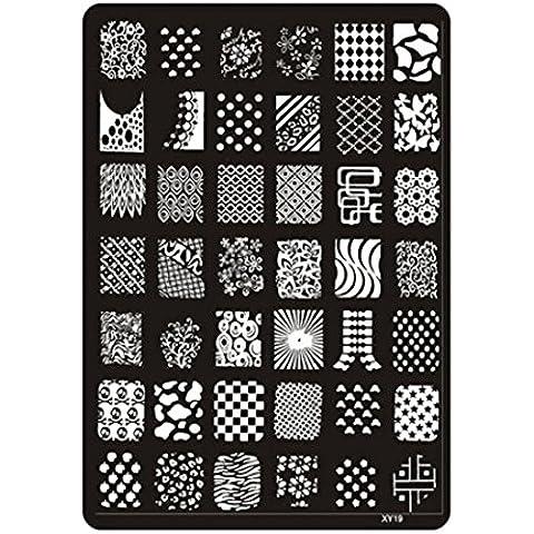 Nail Art Decoración, Oyedens Clavo Que Estampa La Impresora Sellos Placa Placa De La Imagen Del Clavo De La Decoración Del Arte De La Manicura