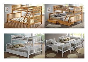 Artisan Beds Beech Triple Sleeper Bunk Bed