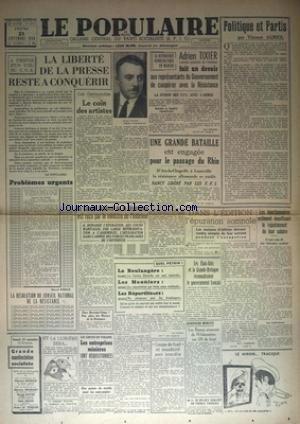POPULAIRE DE PARIS (LE) [No 6401] du 21/...