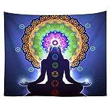 Élégant Bouddha Tapisserie, Wingbind coloré psychédélique Bohème Grande Tapisserie pour religieux culte
