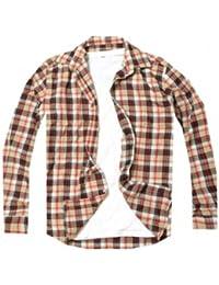 Chemise à carreaux Yves Enzo - Beige