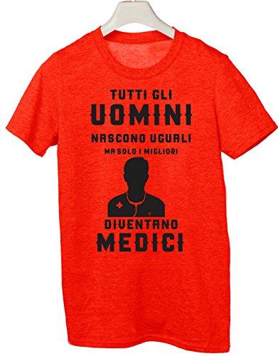 Tshirt tutti gli uomini nascono uguali ma solo i migliori diventano medici - Tutte le taglie by tshirteria Rosso