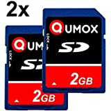 QUMOX 2pcs Pack 2 GB 2048 MB SD-Speicherkarte Karte Speicherkarte für Kamera Kamera Telefon mp3 fm Transmitter