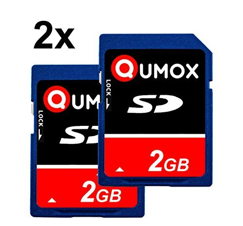 QUMOX 2 x 2GB Tarjeta SD Card camara teléfono móvil