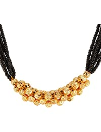 Amaal Traditional Maharashtrian Jewellery Thushi Mangalsutra Necklace Set/Jewellery Sets For Girls Women-THUSHI-A7117