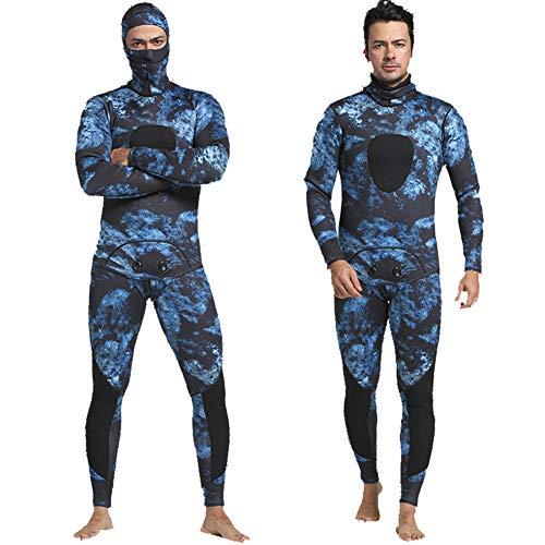 HOMELECT Männer 3mm Tauchanzug Neopren Warm Speerfischen Neoprenanzug Surf Schnorchel Badeanzug,MY051,L