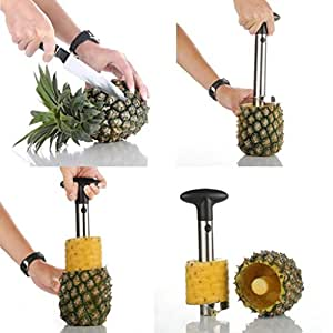 Contever® Stainless Steel Easy Pineapple Peeler / Corer Slicer - Excellent Quality Gadget For Kitchen Use