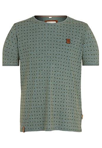Naketano Male T-Shirt Stricherjunge Heritage Forrest Melange