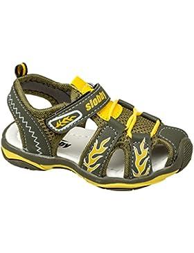 GIBRA® Trekkingsandalen für Kinder, mit Klettverschluss, khaki/gelb, Gr. 25-35
