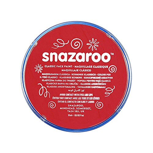 SNAZAROO - PINTURA FACIAL Y CORPORAL  18 ML  COLOR ROJO BRILLANTE