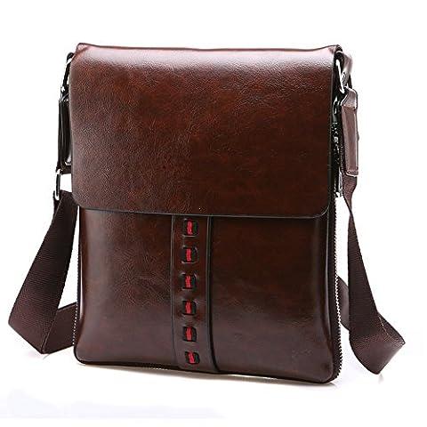 Yisibo Men Messenger Bag Weinlese PU-Leder Schultertasche Crossbody Beutel Schultaschen Beiläufiges Geschäfts-Schulter-Handtaschen Satchel-Mappen-Beutel - Borsa Deodorante