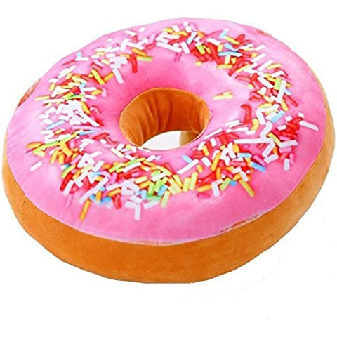 anterrier peluche cuscino coperta di peluche a forma di ciambella donut Pink