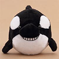 Muñeco de peluche orca ballena asesina negro blanco de Japón