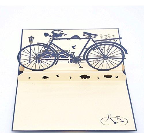 medigy 3d pop up gru karte handgemacht blume korbp fahrrad. Black Bedroom Furniture Sets. Home Design Ideas