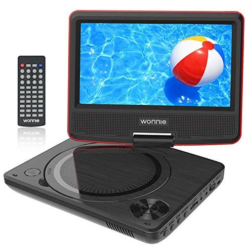 WONNIE 9.5' Lecteur DVD Portable avec écran Rotatif de 7,5'...