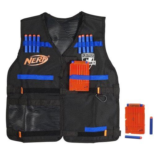 Nerf A0250 Nerf N-Strike Elite Weste mit 12 Elite Darts und 2 Quick Reload Clips - Größenverstellbar