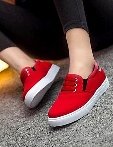ZQ gyht Scarpe Donna-Mocassini-Tempo libero / Casual-Comoda-Piatto-Di corda-Nero / Blu / Rosso , red-us9 / eu40 / uk7 / cn41 , red-us9 / eu40 / uk7 / cn41 red-us6 / eu36 / uk4 / cn36