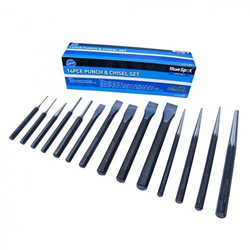 Blue Spot 22451 Set de 14 poinçons et mèches