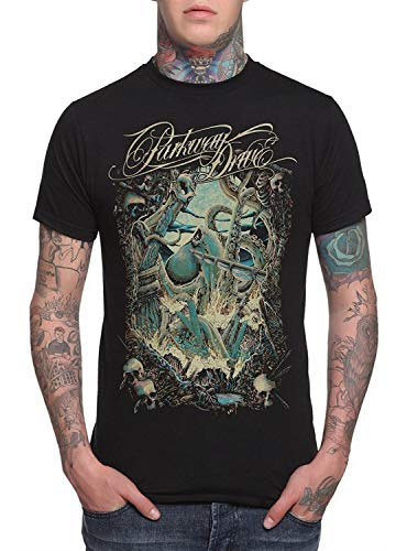 Fashion Parkway Drive Kraken Slim-Fit T-Shirt Cotton Short Sleeve Mens Funny Cool T-Shirt Funny - Double Dry Short Sleeve Tee
