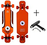 SOLID Eye Kid Kinder Dropthrough Longboard + F26 Skatetool (Orange)