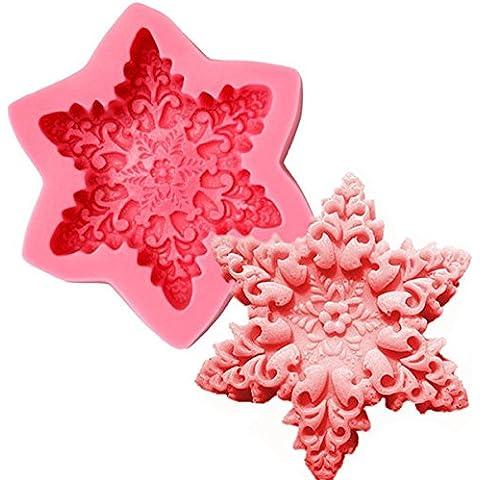 Paleo Copo de jabón moldes de cocción de pasta de azúcar del molde de la torta que adorna el molde de silicona navidad