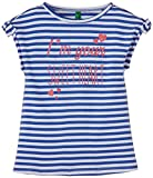 United Colors of Benetton Baby Girls' T-Shirt (15P3LQ3C11DWG9010Y_White and Blue_0Y)