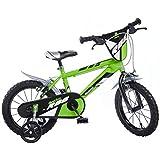 """Dino Bikes - Bicicletta da bambino, 16"""", colore: verde"""