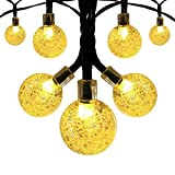 Innoo Tech Solar Outdoor String Lights, 19.7 ft 30 LED Fairy Light Warm White Crystal Ball Christmas Globe Lights for Garden Path, Party, Bedroom Yard Deck Decoration