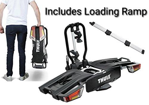 Thule, 933, Fahrradträger für 2 Fahrräder, XT-Fahrradträger für Anhängerkupplung, klappbar mit Verladerampe