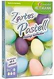 Heitmann Zartes Pastell - flüssige Kaltfarben - gelb, rosa, türkis, grün, Flieder - Oster-Eierfarbe - buntes Osternest