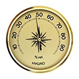 Lantelme Mini Analog Hygrometer in gold Made in Germany